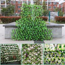 Protected Hedging Retractable-Fence Balcony Leaf-Roll Wall Landscaping Privacy Artificial