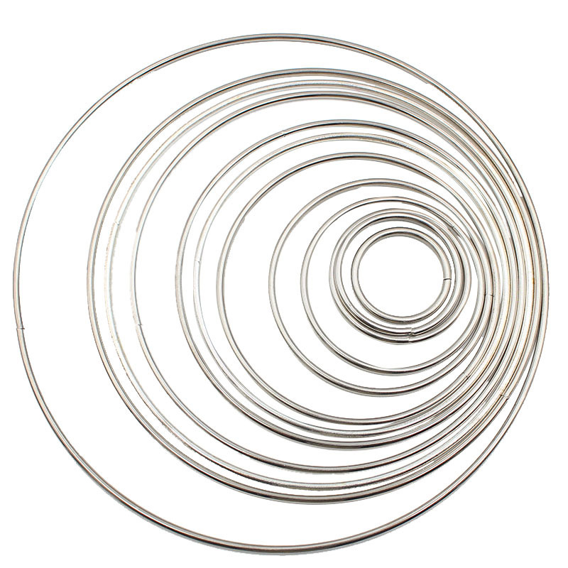 1pack/lot Silver/Gold Color 35-190mm Big Dream Catcher Circle Ring Craft Metal Rings For Dream Catchers Hoops Hanging Connectors