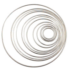 1pack/lot Silver/Gold Color 35-190mm Big Dream Catcher Circle Ring Craft Metal Rings For Catchers Hoops Hanging Connectors