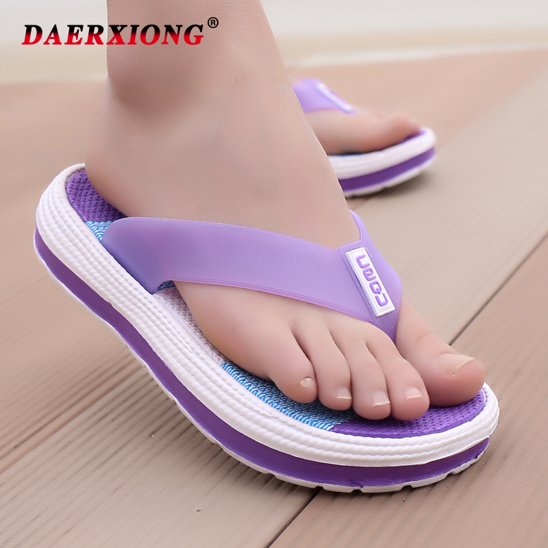 Women 39 s Platform Slippers With Thick Sole Summer Beach Casual Shoes Soft Flat Clip Toe Rainbow Flip Flops Slipper Home Outdoor in Flip Flops from Shoes