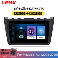 LEHX Car Android 8.1 2DIN Car Head Unit Radio Multimedia Player for Mazda 6 Rui wing 2008 2009 2010 2011 2012 2013 2014