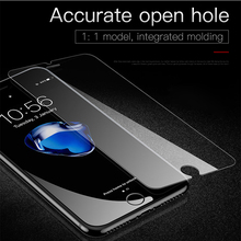 50PCS JRGK HD 2.5D Screen Protector Clear Antifouling Tempered Glass film for iPhone 6 plus 6s plus 7 Plus For Iphone 8 plus X