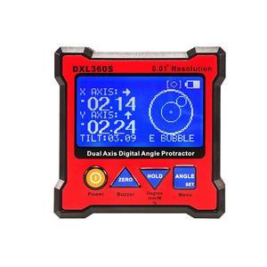 Dxl360s duplo-eixo display digital medidor de nível ângulo transferidor eletrônico inclinômetro medidor de ângulo mini nível base magnética