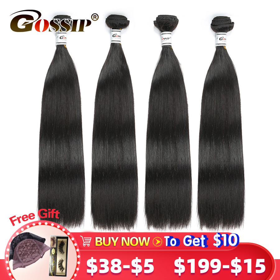 Straight Hair Bundles Malaysian Hair Extension 100% Human Hair Bundles Deal 8-28