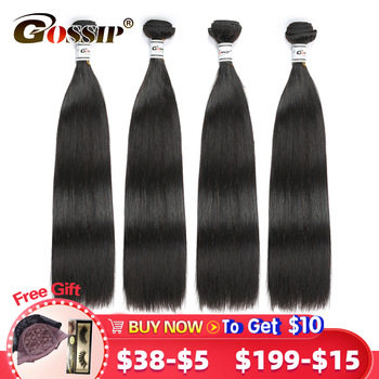Straight Hair Bundles Malaysian Extension 100% Human Deal 8-28