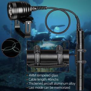 Image 4 - Brinyte DIV10 Tauchen Taschenlampe High Power 150m 3000lm 3x XM L2 LED mit 2M Draht Länge für Professionelle dive