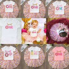 Dress Cake-Outfits Birthday-Party Infant Baby-Girl Pink Cute One Sweet 0-12M Tutu First-1st
