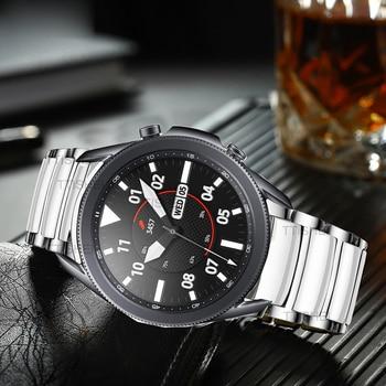 galaxy watch 3 45mm 41mm bands luxury Ceramic strap for samsung active 2 galaxy watch 46mm huawei watch gt 2e amazfit bip