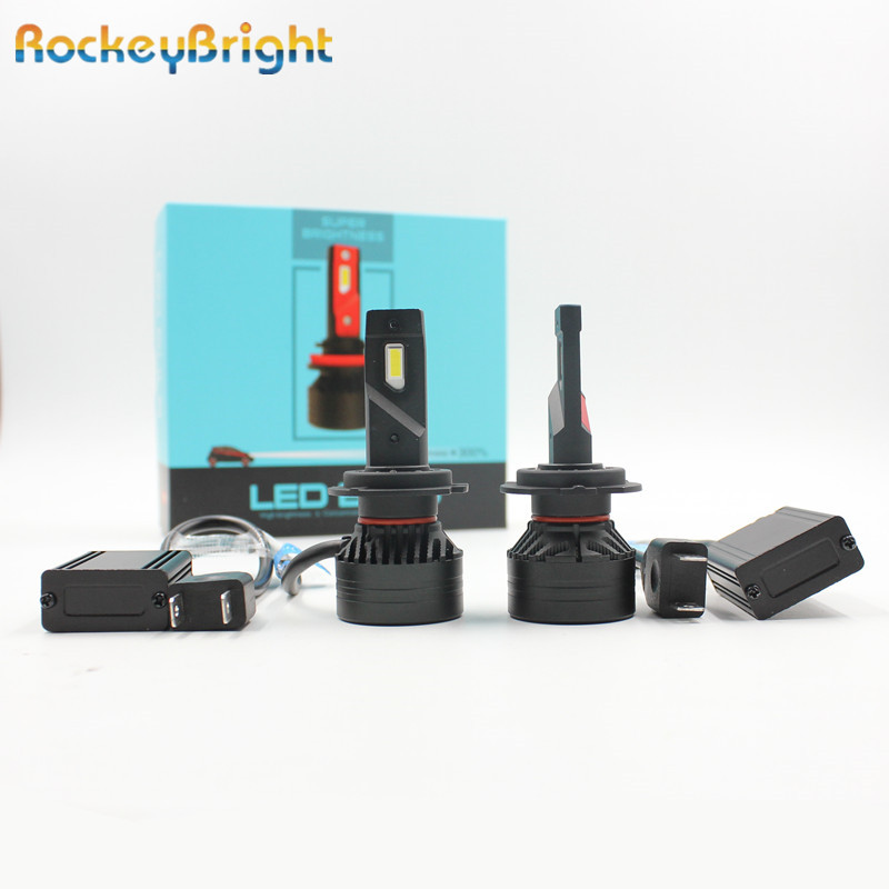 Rockeybright F3 <font><b>20000lm</b></font> H4 <font><b>led</b></font> headlight <font><b>H7</b></font> H8 H9 H11 car headlamp H4 90W bright white H1 H3 880 881 H16 9005 <font><b>LED</b></font> <font><b>H7</b></font> headlight image