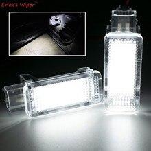 Lampe de coffre au xénon blanc, 2 pièces, lumière de dessous de porte, pour VW Touareg Tiguan Passat Skoda Octavia Superb Audi A4 A6