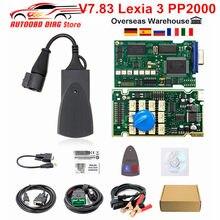 Najnowszy Diagbox V7.83 Lexia-3 PP2000 pełny Chip Lexia3 PSA XS Evolution Firmware 921815C OBD2 Auto skaner Lexia 3 narzędzie diagnostyczne