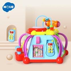 Educatief Baby Peuter Kids Speelgoed Muzikale Activiteit Cube Spelen Centrum met 15 Functies & Vaardigheden Leren Educatief Speelgoed Geschenken