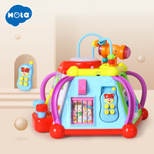 Educational Baby Toddler Kids Toy Musical Activity Cube Play Center with 15 Functions & Skills Learning Educational Toys Gifts(China)