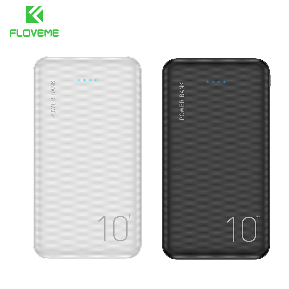 FLOVEME Power Bank 20000mAh Portable Charging  External Battery Charger Powerbank 10000 MAh For IPhone 11/11 Pro Max Samsung XR
