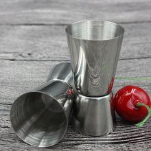 25/50ml Stainless Steel Cocktail Shaker Measure Cup Dual Shot Drink Spirit Measure Jigger Kitchen Bar Gadgets