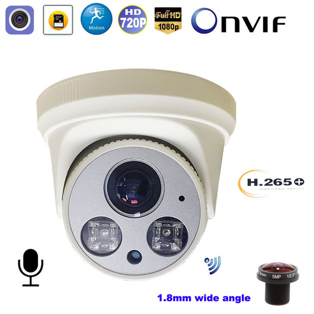 CCTV Wireless Wifi IP Camera 1080P 5MP SONY CMOS 1.8mm wide angle CamHi Motion Detect Onvif Audio Record Surveillance IP Camera
