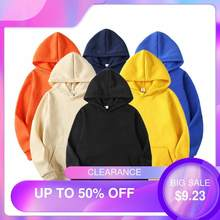 Sudaderas con capucha de gran tamaño para hombre y Mujer, suéteres con capucha, chaquetas Vintage de Color sólido, chándales, Top, Sudaderas para Mujer 2020