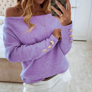 2019  Sexy Off Shoulder Tops and Shirt Sexy Off Shoulder Long Sleeve Solid Color Women Blouse Fall Clothing 2