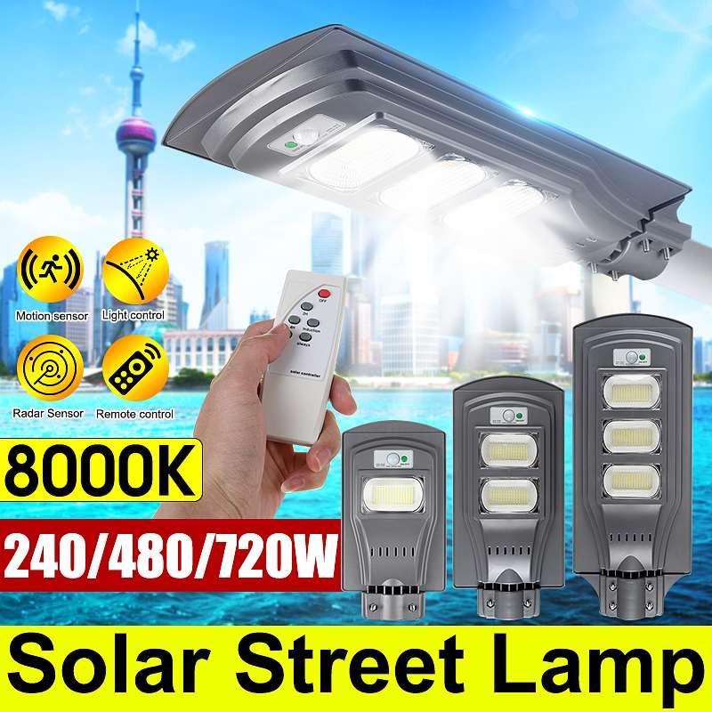 240W 480W 720W LED Wall Lamp IP65 Waterproof Outdoor Solar Street Light Radar Motion for Garden Yard Street Flood Lamp 1