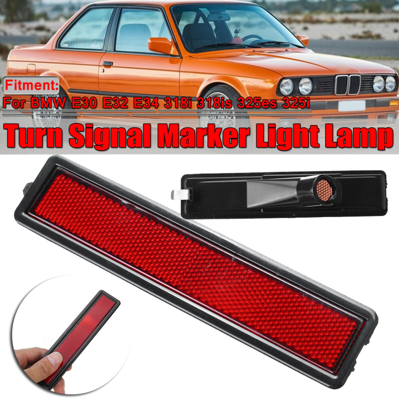 For <font><b>BMW</b></font> 3 Series <font><b>E30</b></font> E32 E34 <font><b>318i</b></font> 318is 325es 325i Side Marker Light Red Rear Bumper Side Lamp Car Accessories image