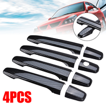For Mitsubishi 4pcs Carbon Style Door Handle Cover Auto Accessories Styling Moulding Support Lancer EX Evolution X 08-17