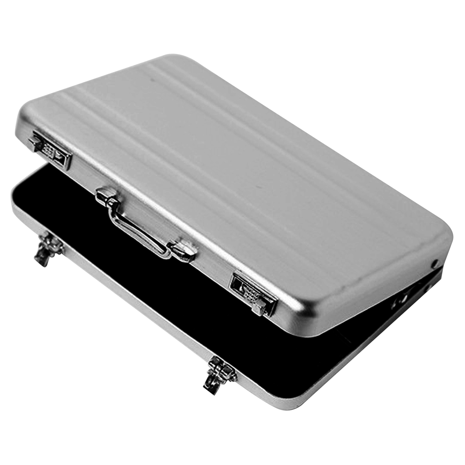 Mini Code Case Style Aluminum Card Holder Case Box Storage Organizer For Business Men Boss Name ID Credit Gift Card