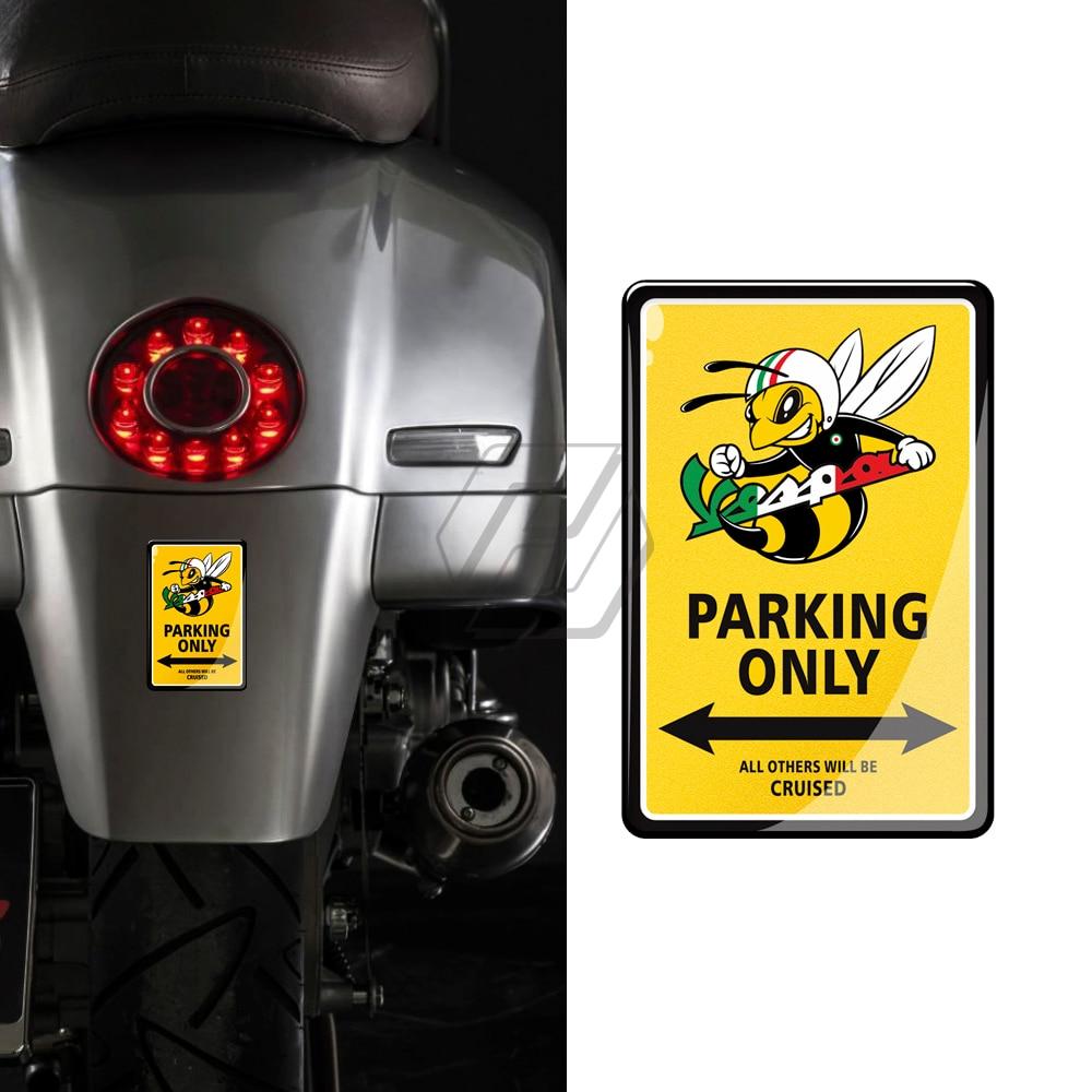 3D Resin Motorcycle Stickers Case For PIAGGIO VESPA GTS LX LXV SPRINT PRIMAVERA 125 150 150ie