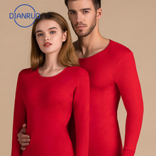 Socks Pants Underwear Winter Men Sweater Red Thick Unisex DIANRUO R703 4pc-Set Tops Pullover
