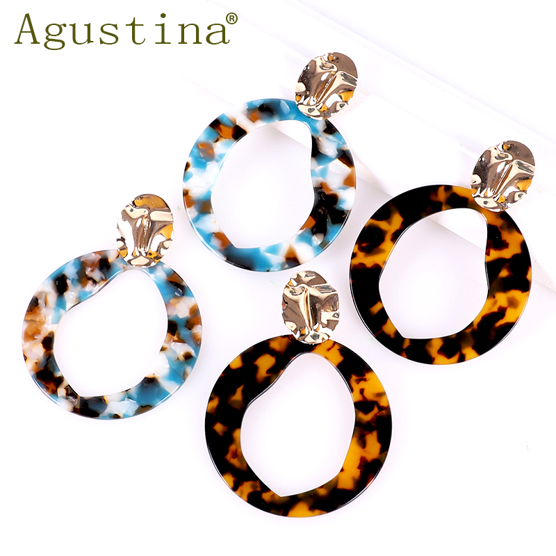 Leopard Earrings Fashion Jewelry Women Acrylic Earings Minimalist Earring Dangle Drop Acetate Girls Bohemian Resin Agustina Punk