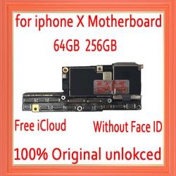 공장 아이폰 x 마더 보드 얼굴 id없이, 무료 icloud 아이폰 x 메인 보드 ios 시스템 로직 보드