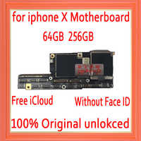 Débloqué en usine pour la carte mère iphone X sans identification faciale, iCloud gratuit pour la carte mère iphone x avec la carte mère du système IOS