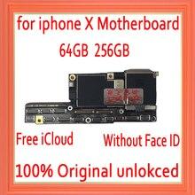 Fabrika unlocked iphone X anakart olmadan yüz kimlik, ücretsiz iCloud iphone x anakart IOS sistemi mantık kurulu ile