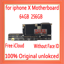 Factory unlocked for iphone X motherboard with without Face ID,Free iCloud for iphone x Mainboard with IOS System Logic board