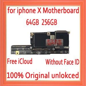 Image 1 - Usine déverrouillée pour iphone X carte mère avec sans identification de visage, gratuit iCloud pour iphone x carte mère avec carte mère système IOS