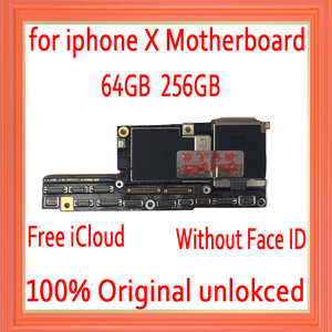Image 1 - מפעל נעול עבור iphone X האם עם ללא פנים מזהה, משלוח iCloud עבור iphone x Mainboard עם IOS מערכת היגיון לוח
