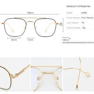 Image 5 - แว่นตาPure Titaniumกรอบแว่นตาผู้ชายVintage Oversizeแว่นตาตามใบสั่งแพทย์คุณภาพสูงจุดการบินแว่นตา