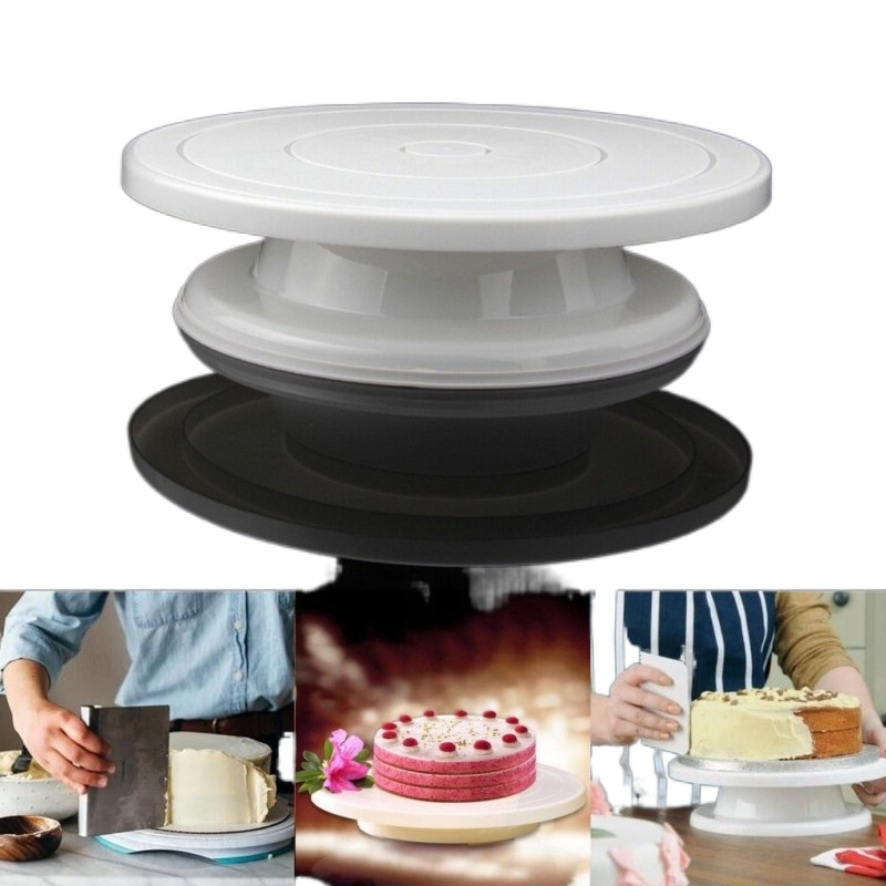 Cake Stand Turntable Rotating Base Cake Plastic Dough Knife Decorating Cream Cakes Stand set Cake Rotary Turntable tool