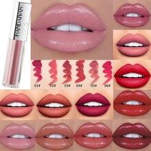 New Sexy Lip Gloss Smooth Glitter Lipstick Moisturizing Glaze Nude Tint Waterproof Cosmetic TSLM2