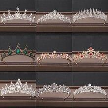 Casamento coroa de cabelo jóias nupcial headpiece mulher barroco strass cristal tiaras noiva festa coroas casamento acessórios para o cabelo