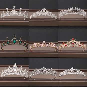 Wedding Crown Hair Jewelry Bridal Headpiece woman Baroque Rhinestones Crystal Tiaras Bride Party Crowns Wedding Hair Accessories цена 2017