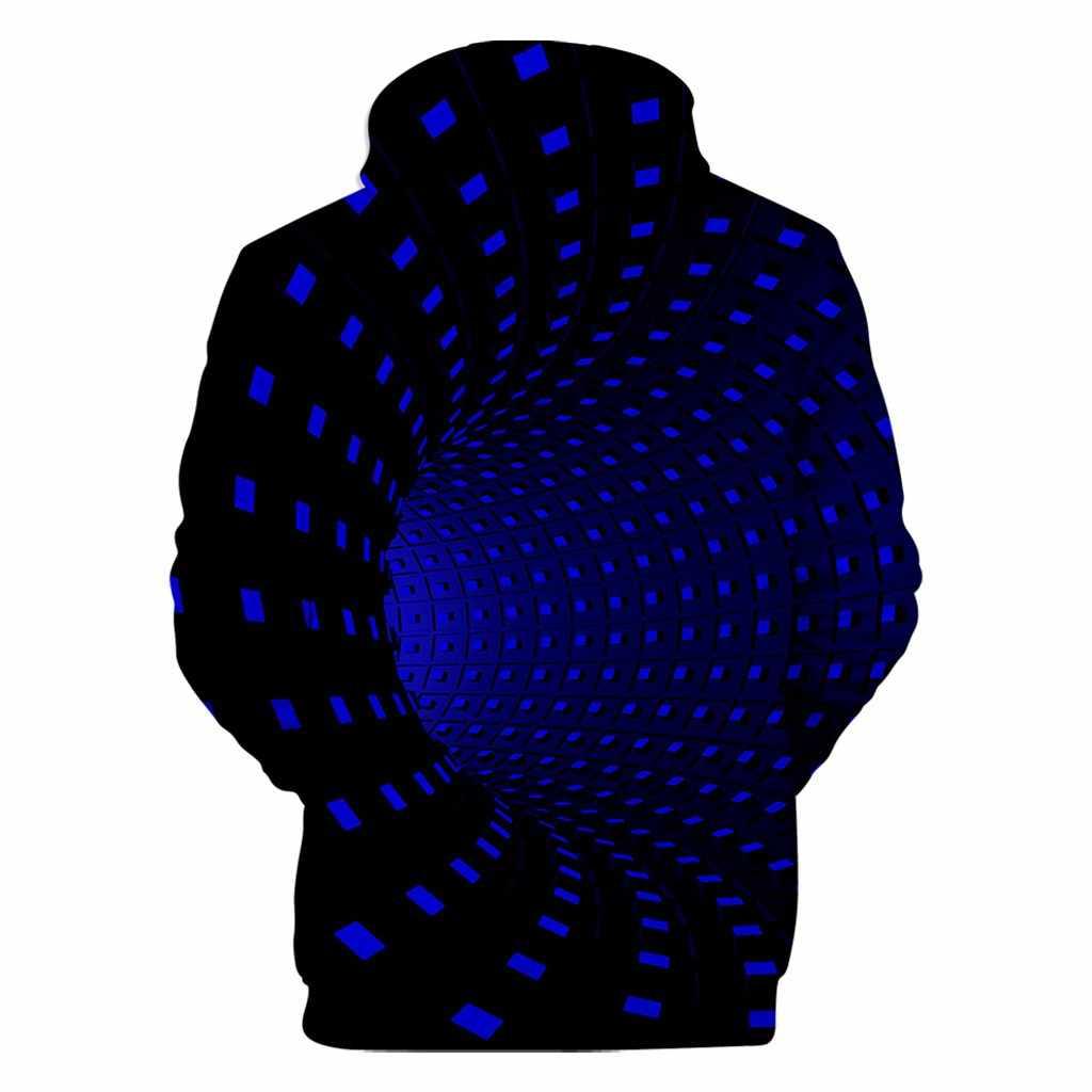 남여 남자의 3d 인쇄 운동복 까마귀 크리 에이 티브 라운드 넥 후드 캐주얼 긴 소매 망 후드 티 스웨터 Sudadera Hombre