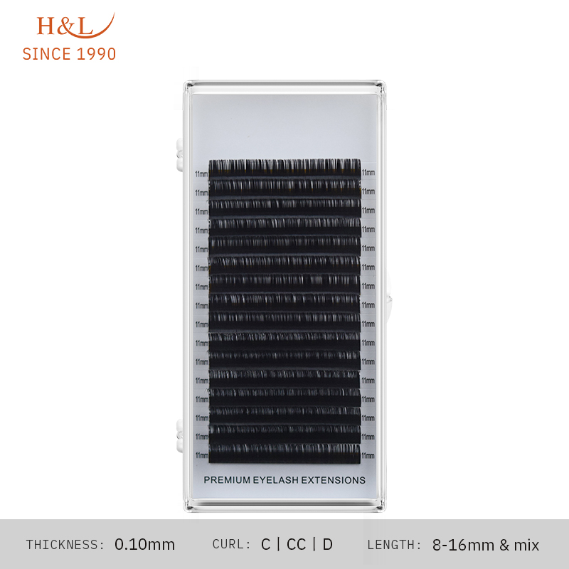 H & L DESDE 1990 16 Linhas 0.10 espessura dos cílios individuais cílios maquiagem cílios para profissionais suave extensão dos cílios vison