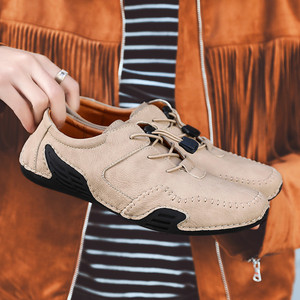 Image 2 - Spring mens fashion octopus sole non slip casual shoes personality soft leather driving shoes Doudou shoes driving shoes