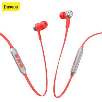 Baseus, беспроводные наушники для мобильного телефона, металлические музыкальные наушники, магнит, Bluetooth гарнитура, fone de ouvido для iPhone