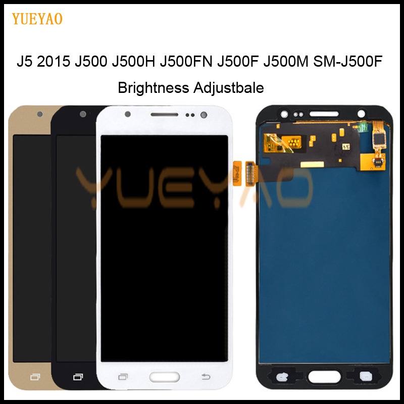 Brightness Adjustbale J500F LCD For Samsung <font><b>J5</b></font> 2015 LCD J500F/FN J500G J500Y J500M <font><b>Display</b></font> Touch Screen Digitizer For <font><b>J500</b></font> LCD image