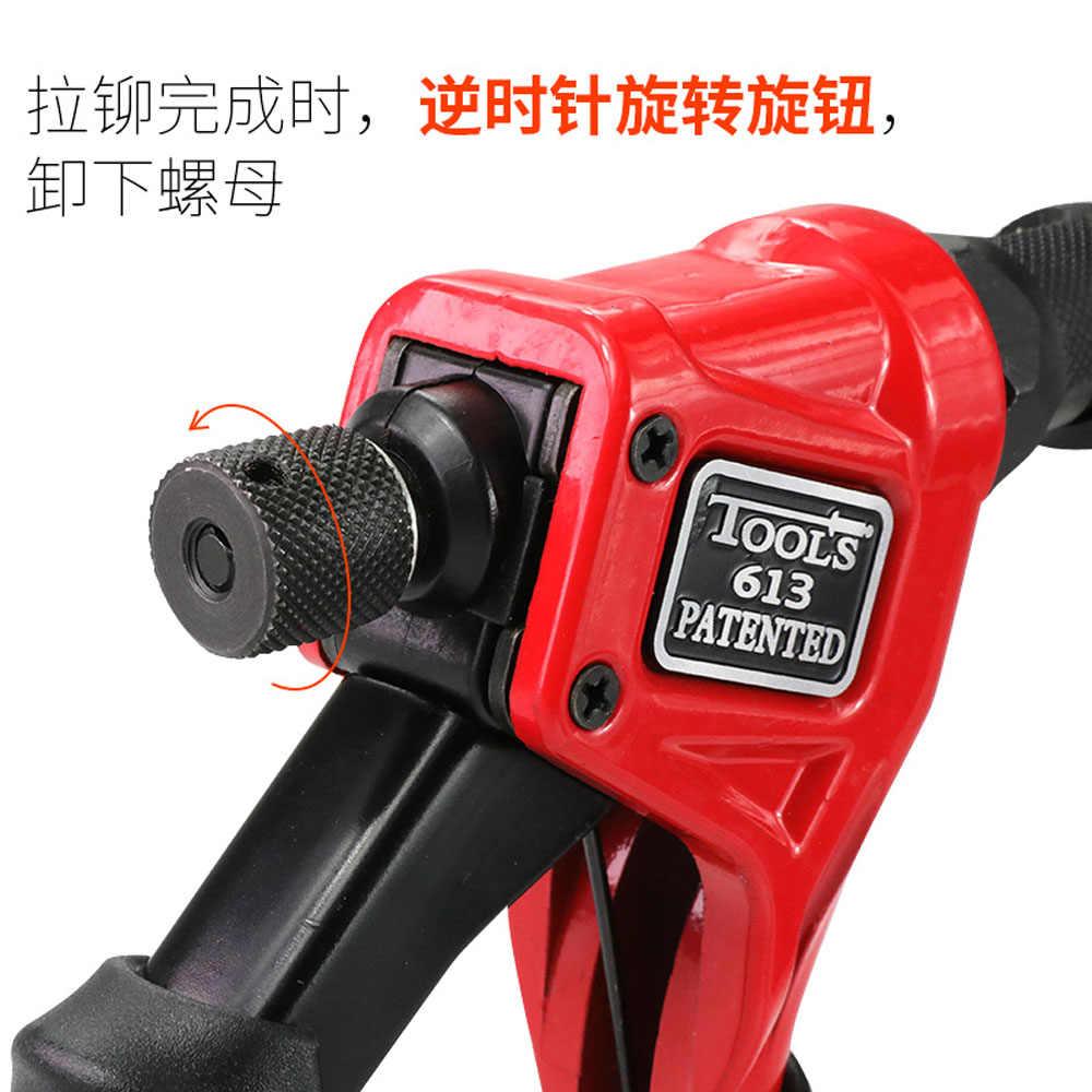 Ferramenta de rebitador com 40 peças, 8 '', BT-613 porcas, única mão, rebitador manual, ferramenta de rebitagem manual m3/m4/m5/m6