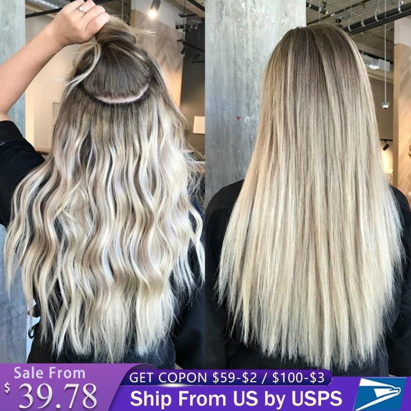 заколка для волос заколки на заколки для волос волосы Человеческие волосы для наращивания на клипсе, натуральные волосы Реми на всю голову, ...