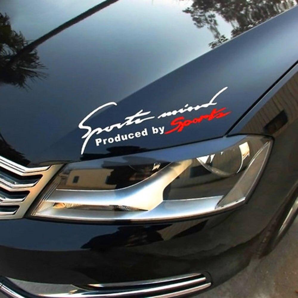 Beliebte 1PCS Schwarz Rot Racing Auto Auto Reflektierende TRD Auto Vinyl Graphic Aufkleber Aufkleber