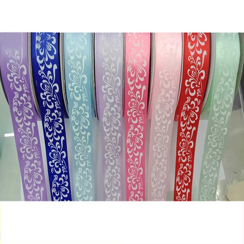 10yards 25 millimetri Bianco Silver Foil stampa a Caldo Nastro della Macchia per Hairbow FAI DA TE Carta Da Imballaggio Confezione Regalo Festa A Casa nastri decorativi