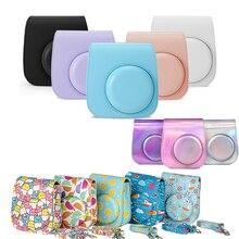 كاميرا الكتف واقية أنماط ملونة حقيبة كاميرا جلدية ل Fujifilm Instax بولارويد Mini11 Mini 11 حقائب اليد
